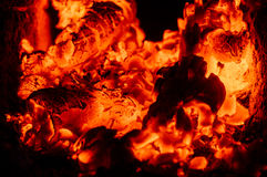 burning kol Royaltyfri Foto