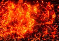burning kol för bakgrund Arkivfoton