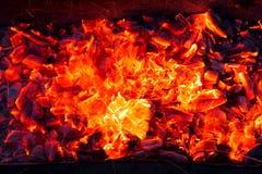 burning kol för bakgrund Royaltyfri Bild
