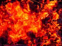 burning kol för bakgrund Royaltyfria Bilder