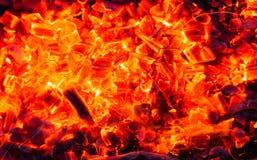 burning kol för bakgrund Royaltyfria Foton