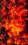 burning kol för bakgrund Arkivbilder