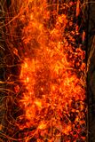 burning kol för bakgrund Royaltyfri Fotografi
