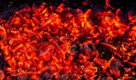burning kol för bakgrund Arkivbild