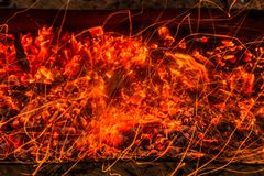 burning kol för bakgrund Royaltyfri Foto