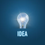Burning lamp concept Idea Royalty Free Stock Photography