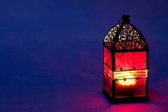 Burning lantern Stock Images