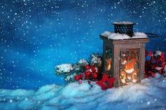 Burning lantern Royalty Free Stock Images