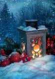 Burning lantern Royalty Free Stock Image