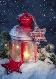 Burning lantern Stock Image