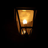 Burning lantern in the dark Royalty Free Stock Photo