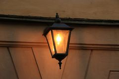 Burning lantern stock images