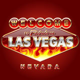 Burning Las vegas road sign Royalty Free Stock Photography