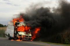 burning lastbil Royaltyfri Bild