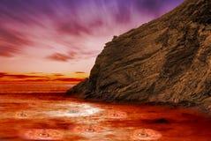 burning lava royaltyfria foton