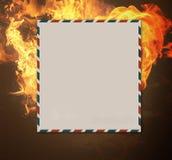 Burning letter Stock Photo