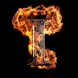 Burning Letter. Made in 3D graphics Royalty Free Stock Photography