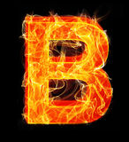 Burning letters as alphabet type B. Burning letters as alphabet type Royalty Free Stock Photos