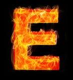 Burning letters as alphabet type E. Burning letters as alphabet type Stock Photography