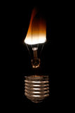 Burning Light Bulb Royalty Free Stock Image