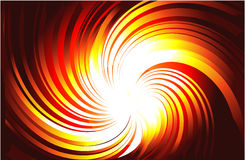 Burning Light Rays. Vortex of Yellow and Red Burning Light Rays Stock Images