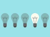 Burning lightbulb, flat design Stock Photography