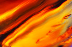 Burning liquid. Whiskey glass closeup Stock Photography
