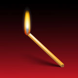 Burning the list against Royalty Free Stock Image