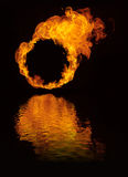 Burning logo. Burning frame where you can insert a round object (wheel, logo etc Royalty Free Stock Photography