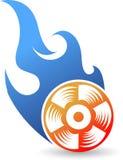 Burning logo Stock Photo