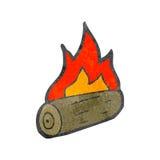 Burning logs cartoon Royalty Free Stock Image