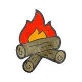 Burning logs cartoon Stock Photos