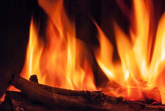 Burning logs Stock Image