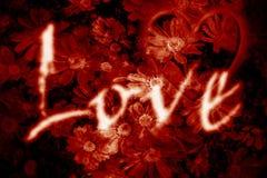 Burning Love stock image