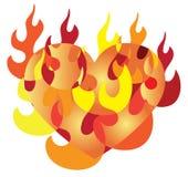 Burning love Royalty Free Stock Photos
