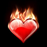 Burning Love Royalty Free Stock Photos