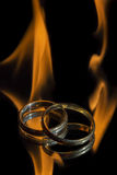 Burning love Royalty Free Stock Photo