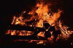 Burning Magician Stock Photography