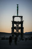 burning man Royaltyfria Foton