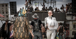 Burning Man Festival in Black Rock City Stock Photos