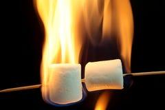 Burning Marshmallow Royalty Free Stock Images