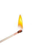 Burning match Stock Photo