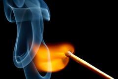 Burning match royalty free stock photo
