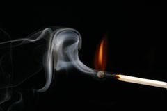 burning match Royaltyfria Foton