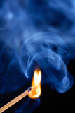 Burning Match  Royalty Free Stock Photography