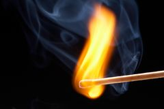 Burning match Royalty Free Stock Photos