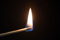 Burning Match Stock Photography