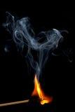 Burning match Royalty Free Stock Photos