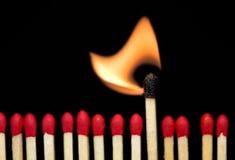 burning match Royaltyfri Bild