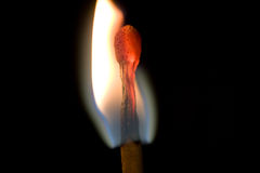 Burning Match Stock Image